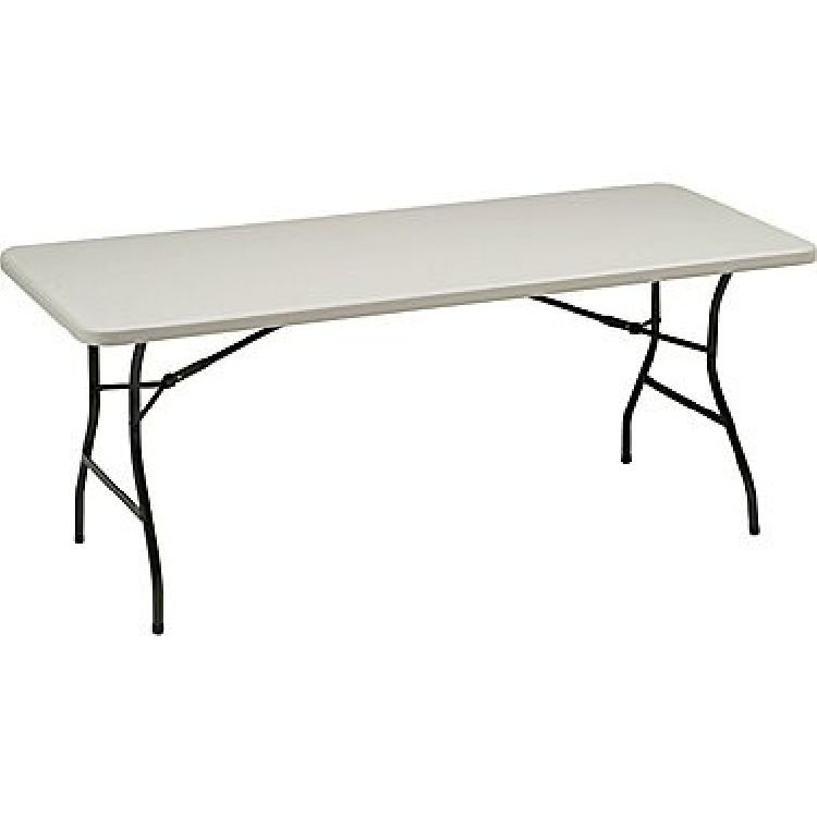 6' white folding table