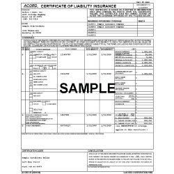 List as Certificate Holder